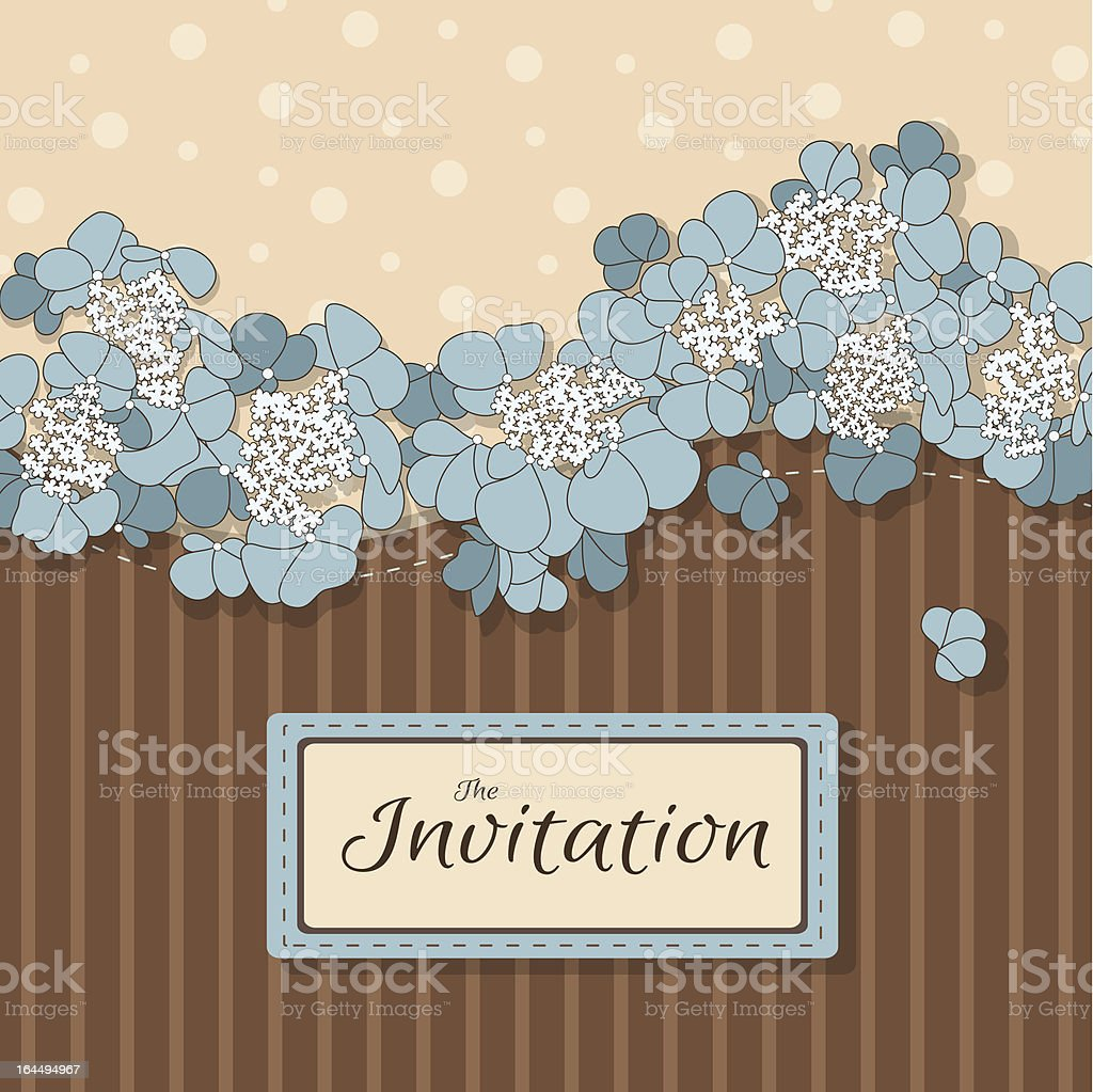 Floral background with flowers in pastel colors royalty-free stock vector art