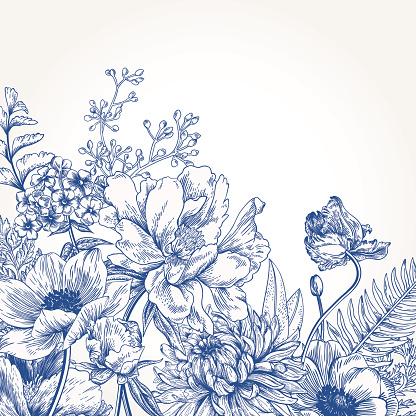 Floral Background With Flowers Stock Illustration - Download Image Now