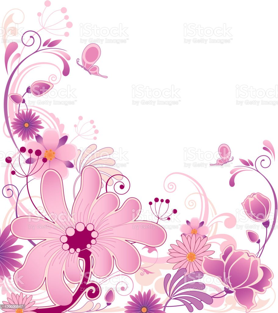floral background with ornament royalty-free stock vector art