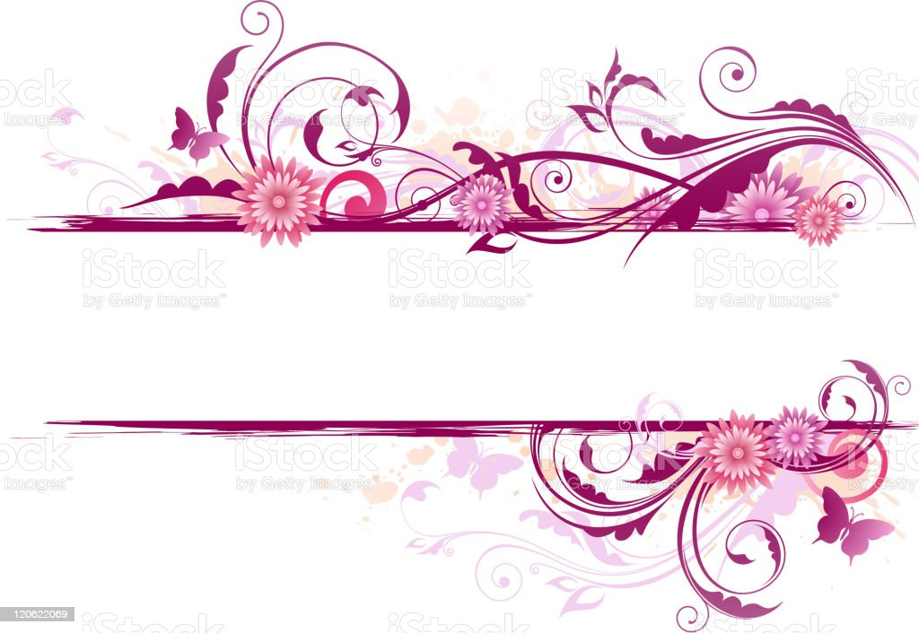 Floral background with ornament vector art illustration