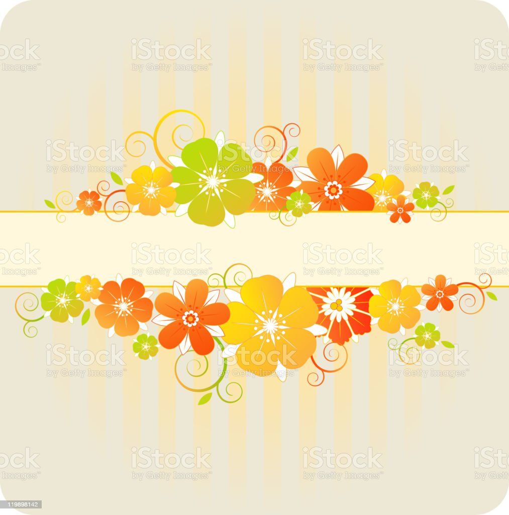 floral background with red and orange flowers royalty-free floral background with red and orange flowers stock vector art & more images of backgrounds