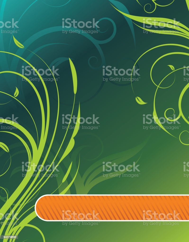 Floral background with text space. royalty-free stock vector art