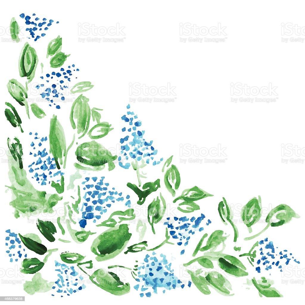 Fondo Floral con flores acuarela - ilustración de arte vectorial