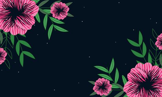 floral background,tropical background,leaves background.stock illustration