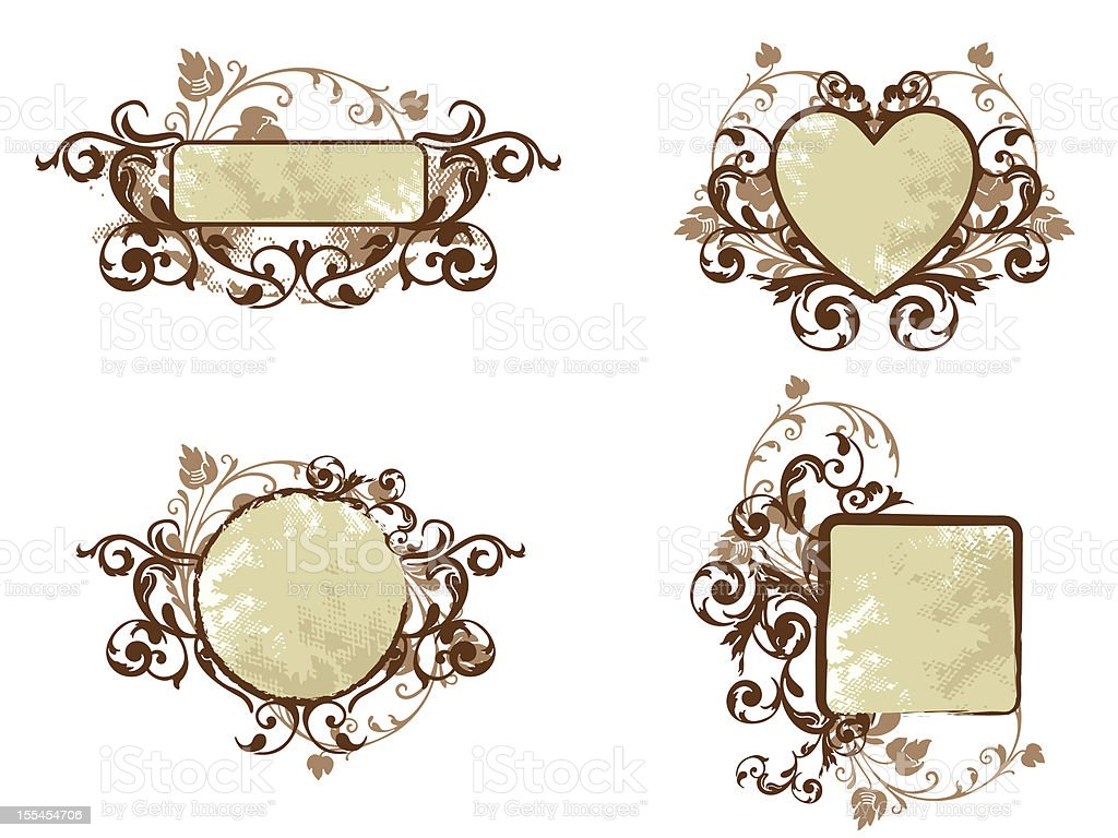 Floral Banner Collection royalty-free stock vector art