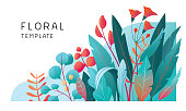 istock Floral banner template 1194514238