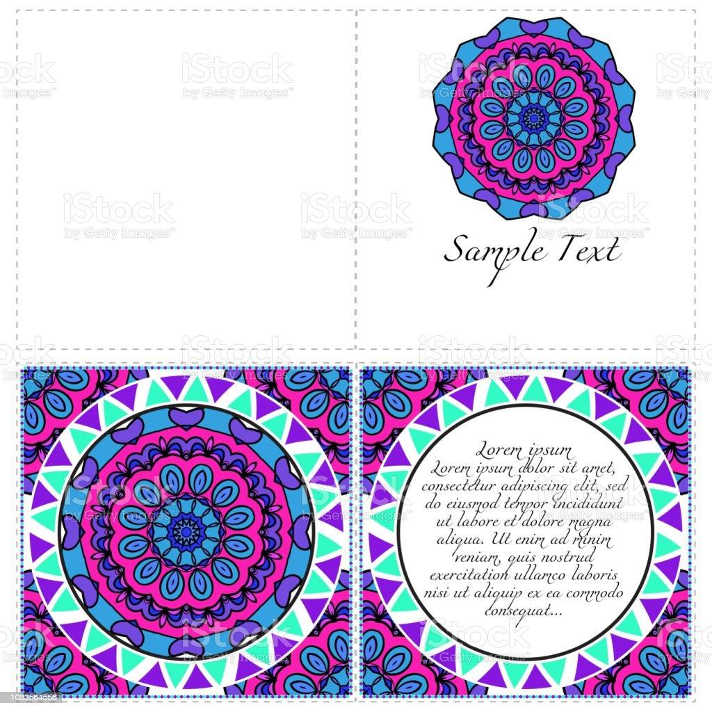 Ilustración de Banners Florales Ornamento De Mandala étnicos ...
