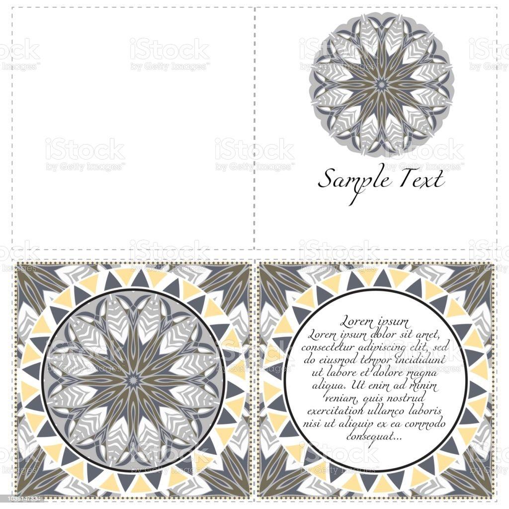 Ilustración De Banners Florales Ornamento De Mandala étnicos