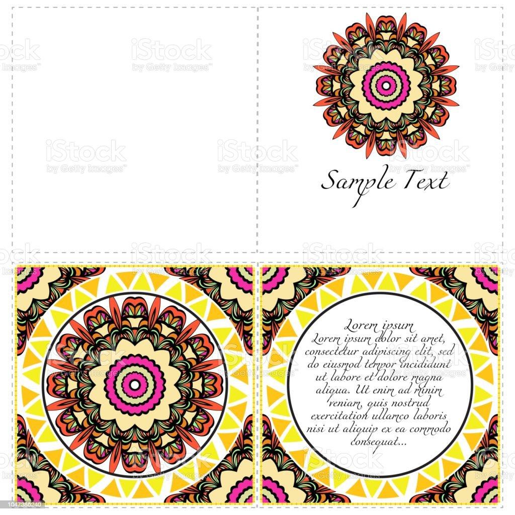 Bannières Florales Ornement De Mandala Ethnique Illustration