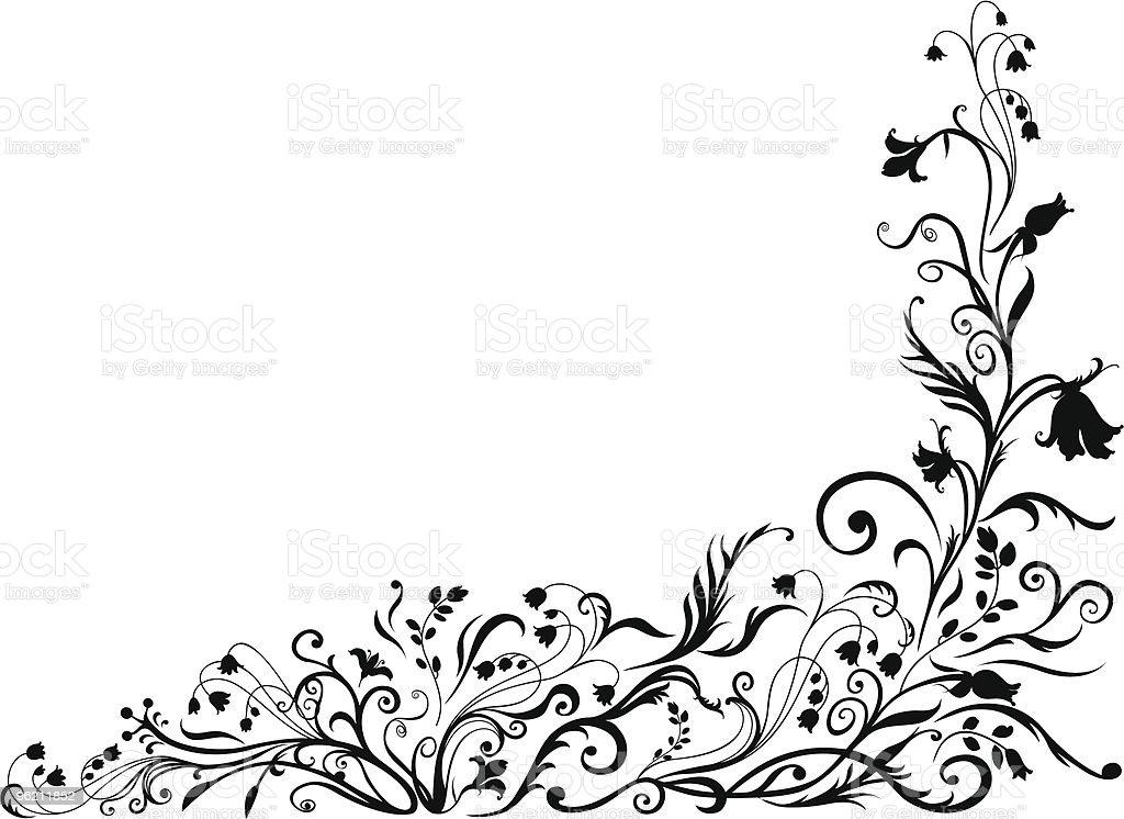 floral black pattern royalty-free stock vector art