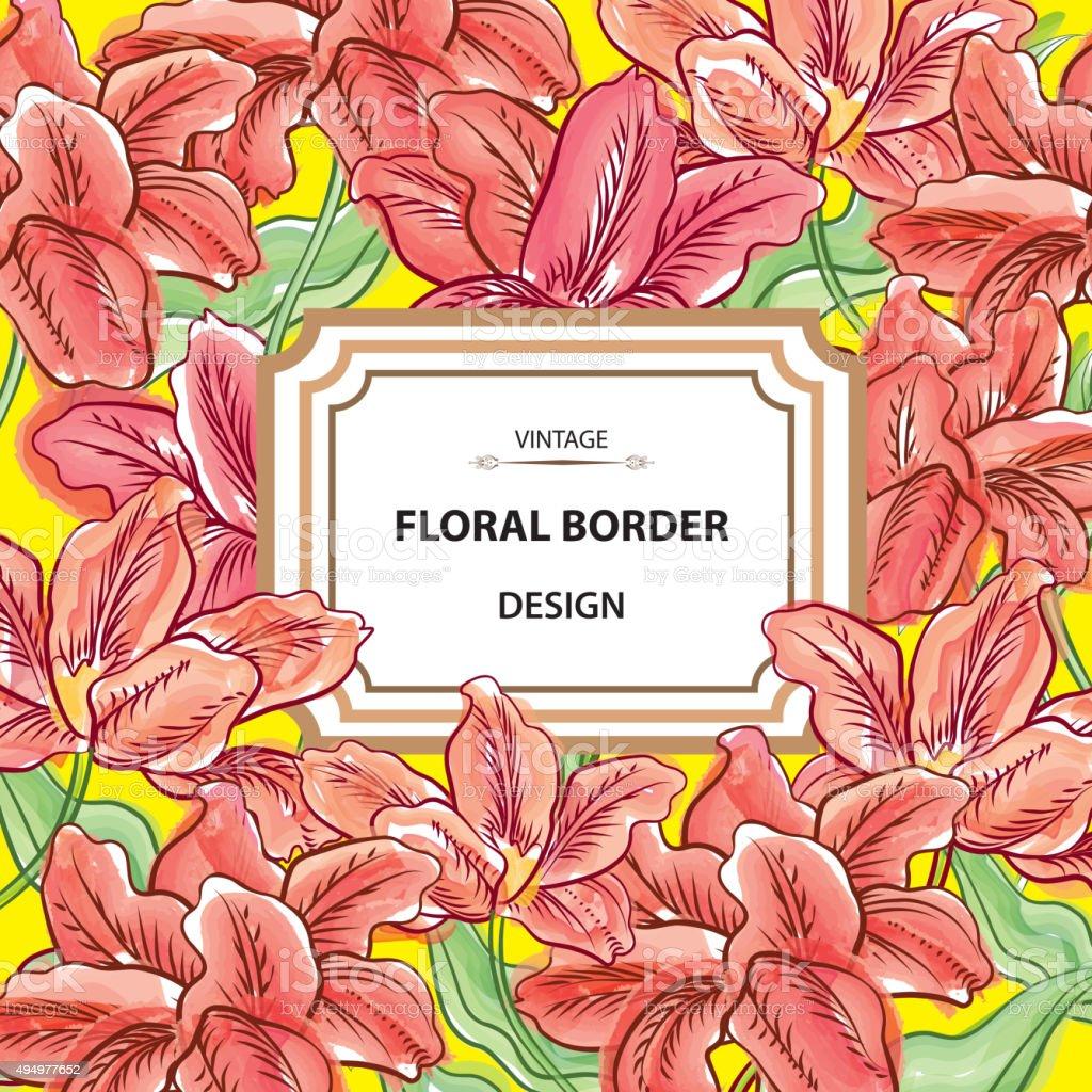 Floral border flower background in hawaiian style stock vector art flower background in hawaiian style royalty free floral border flower background izmirmasajfo