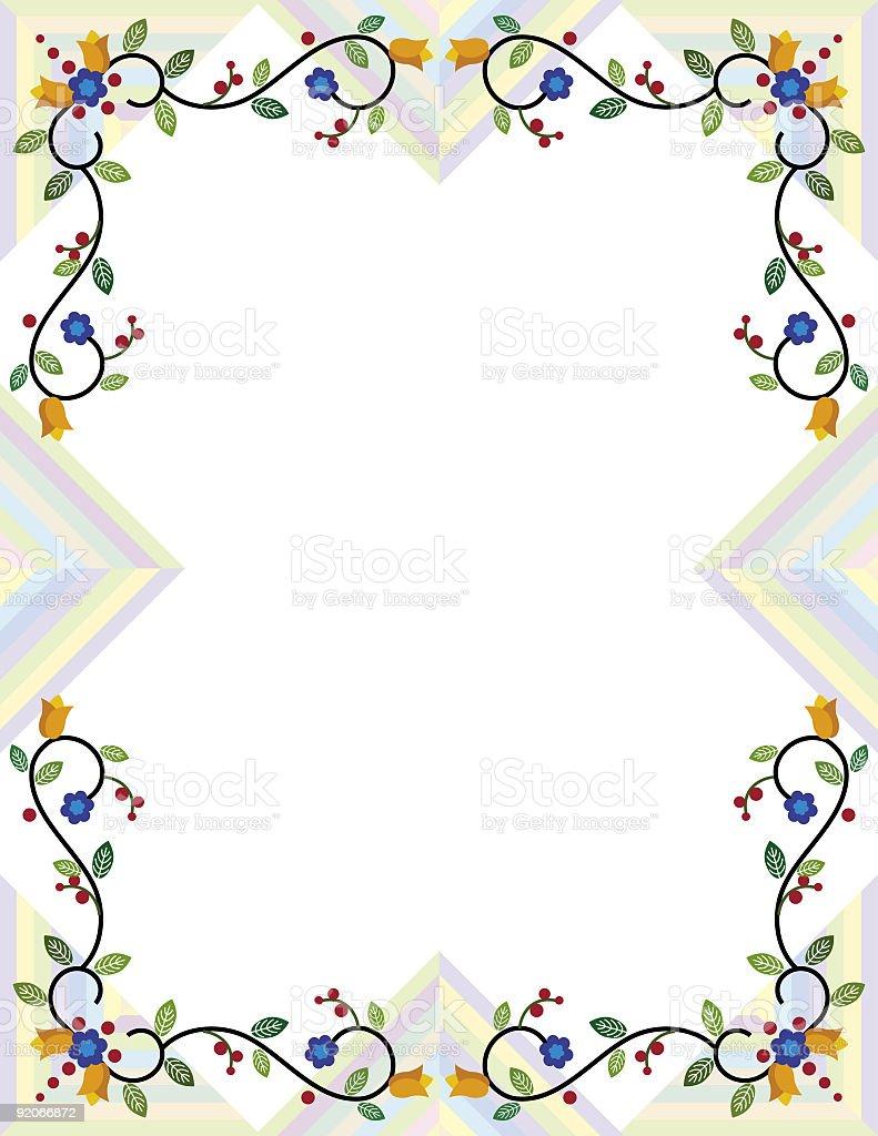 Floral Border royalty-free stock vector art