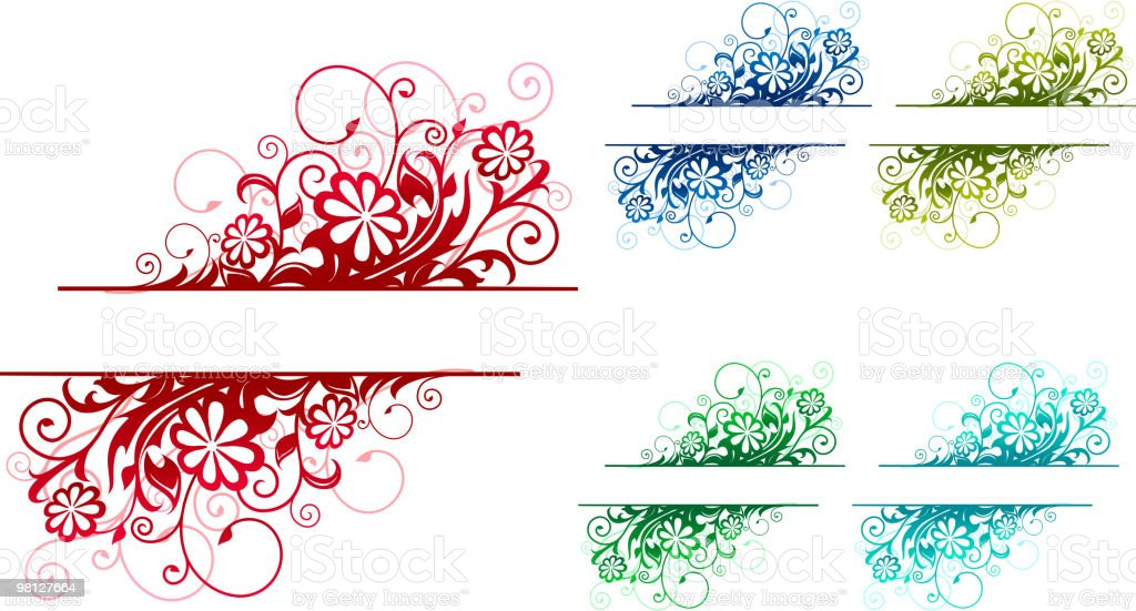 Floral border royalty-free floral border stock vector art & more images of color image