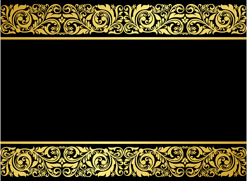 Floral border with gilded elements