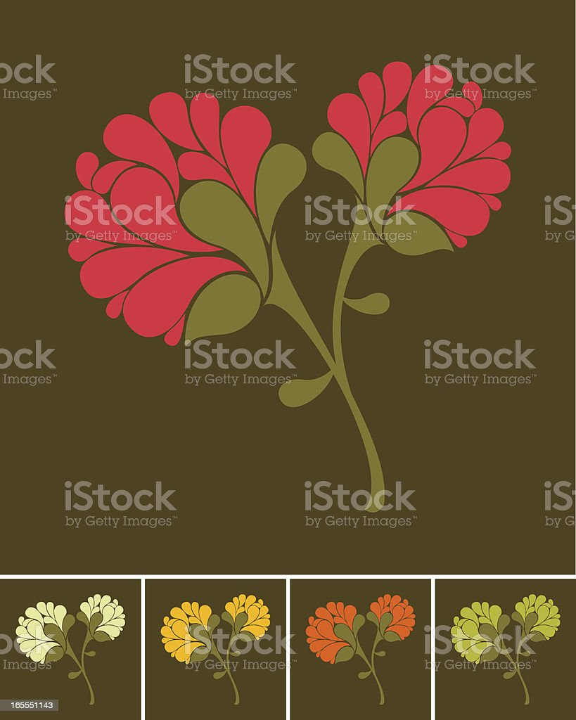 Floral bouquet vector art illustration