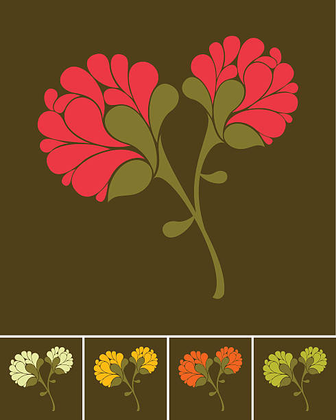 Floral bouquet vector art illustration