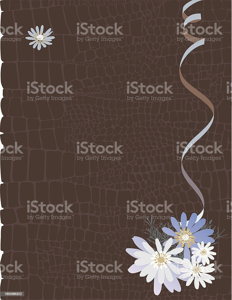 Floral Brown Background royalty-free stock vector art