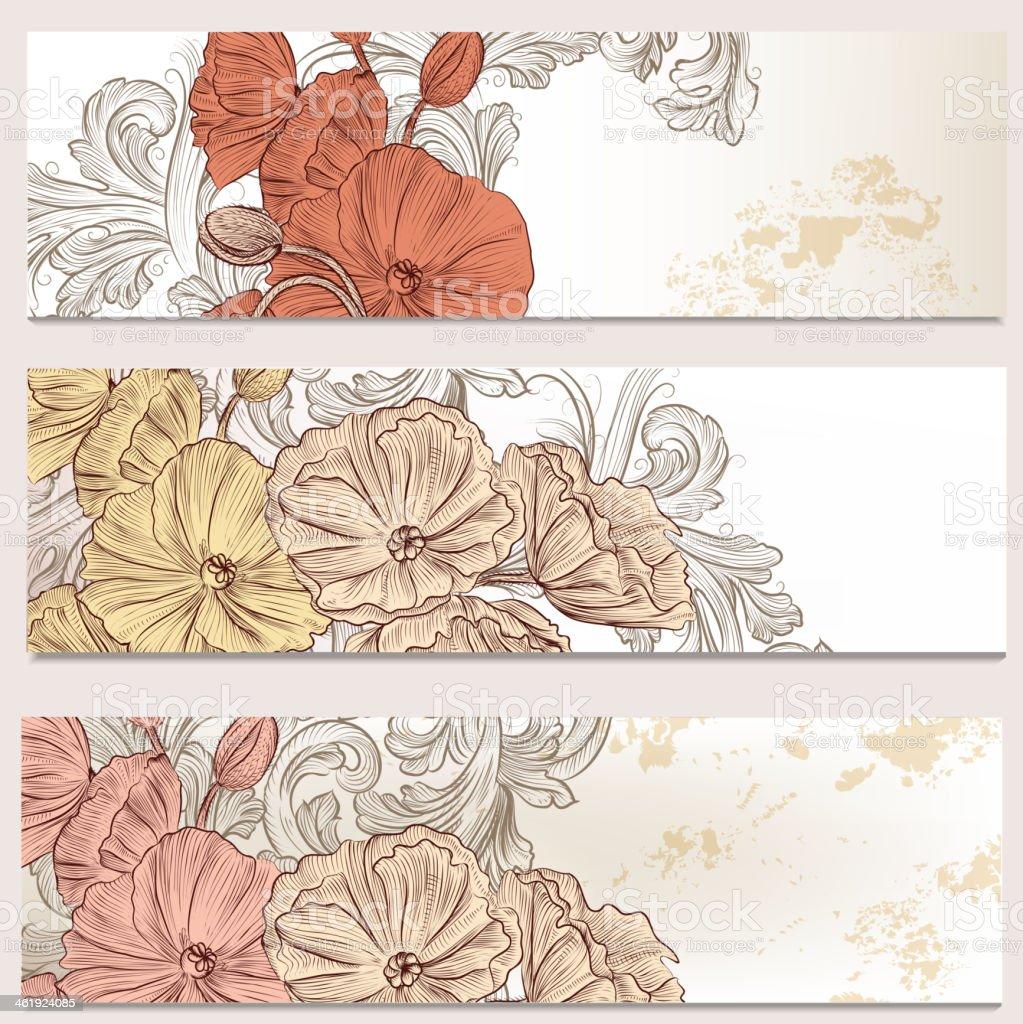 Cadre Image Peinte Affaires Affectueux Bordure Cartes De Visite Ensemble Floral Pour
