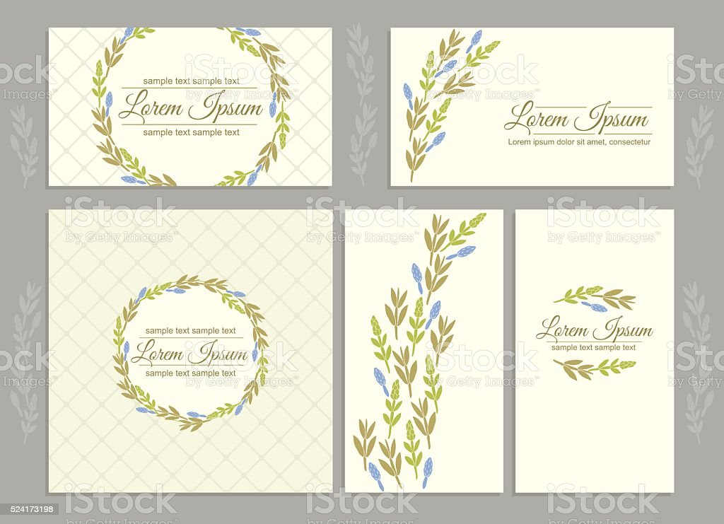 Floral Business Cards stock vector art 524173198 | iStock