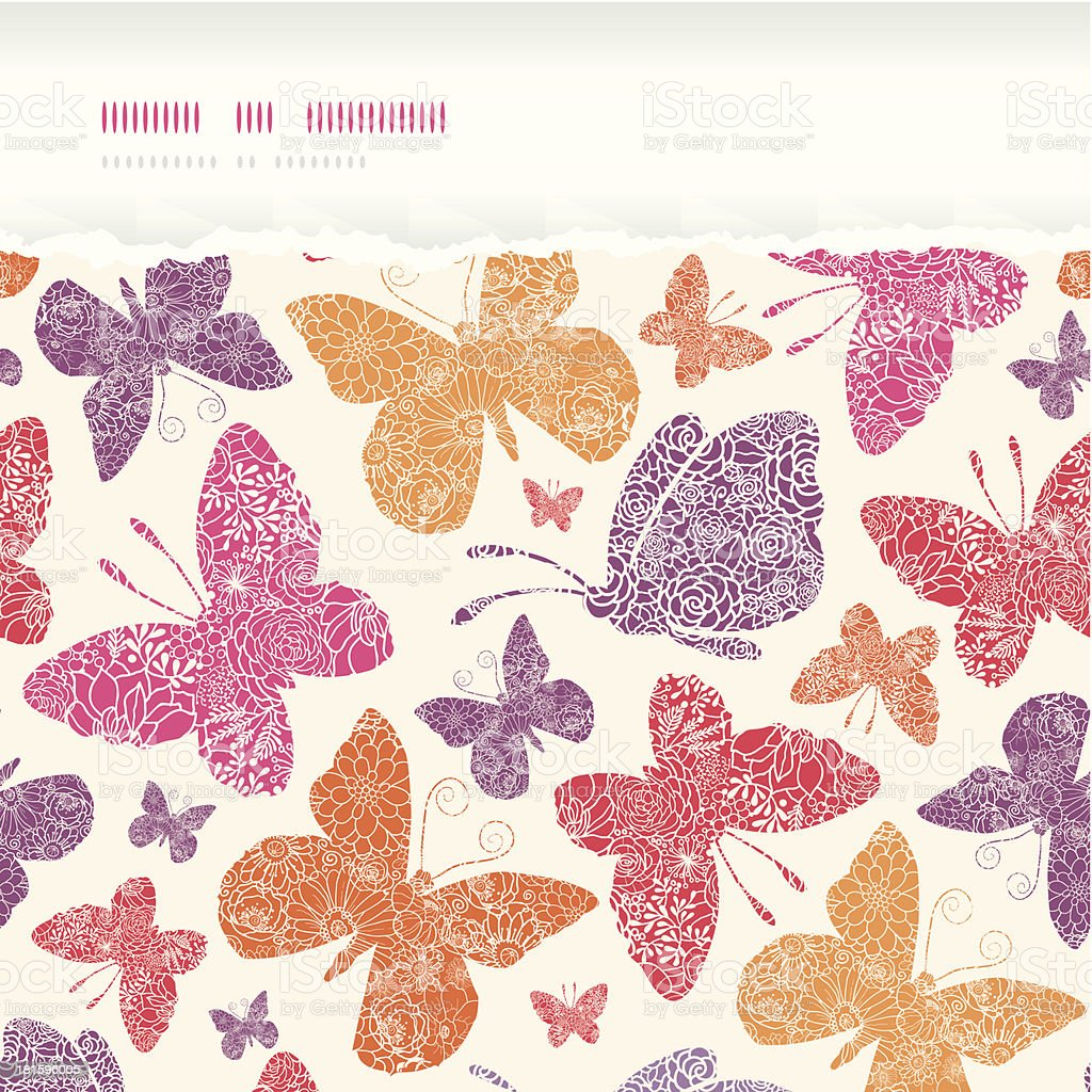 Floral butterflies frame horizontal seamless pattern background royalty-free floral butterflies frame horizontal seamless pattern background stock vector art & more images of abstract