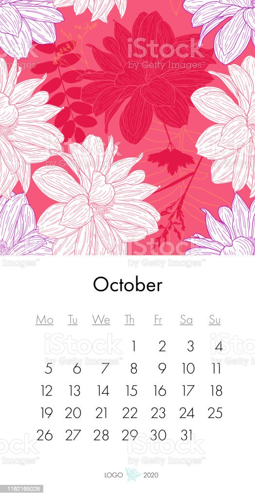 ファッションプリントで花のカレンダー年10月花の植物花のインクスケッチと枝ベクトルイラスト 年のベクターアート素材や画像を多数ご用意 Istock