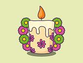 floral candle design