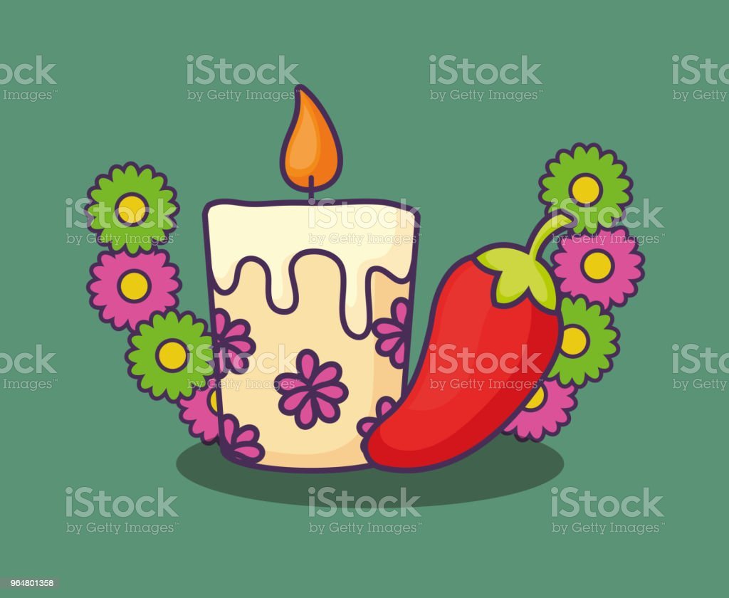 floral candle design royalty-free floral candle design stock vector art & more images of birthday