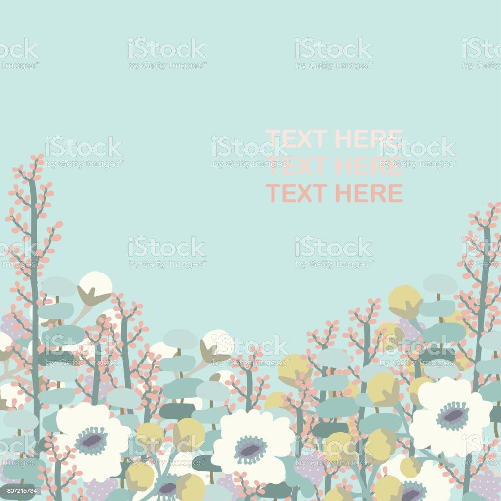 Floral card vector art illustration