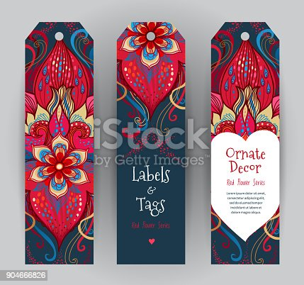 istock Floral cards, Valentine's Day greetings. 904666826