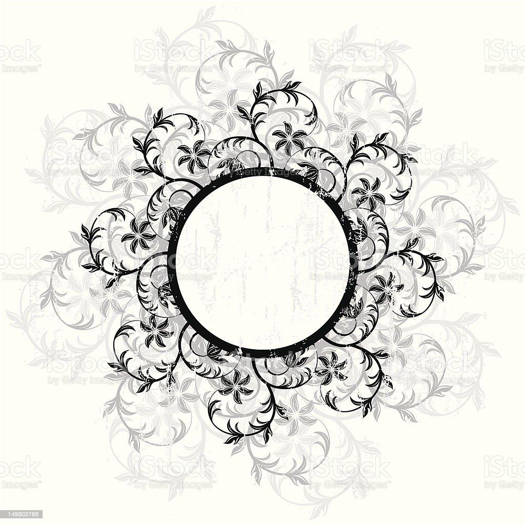 Floral circle tag royalty-free stock vector art