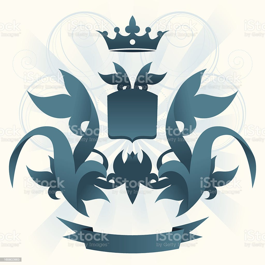 Floral coat of arms royalty-free stock vector art