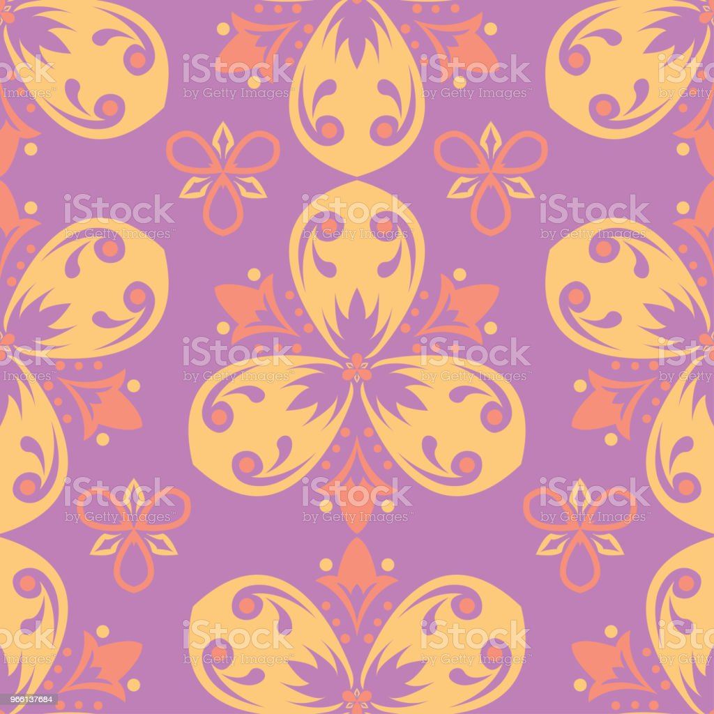 Floral colored seamless pattern. Bright background - Royalty-free Abstrato arte vetorial