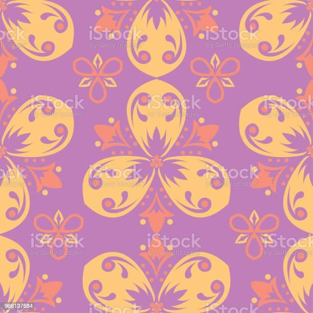 Färgade Sömlös Blommönster Ljus Bakgrund-vektorgrafik och fler bilder på Abstrakt
