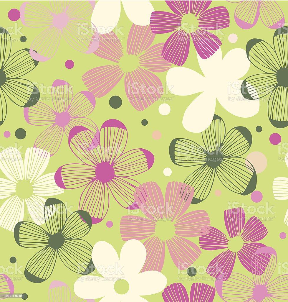 Floral cute pattern vector art illustration