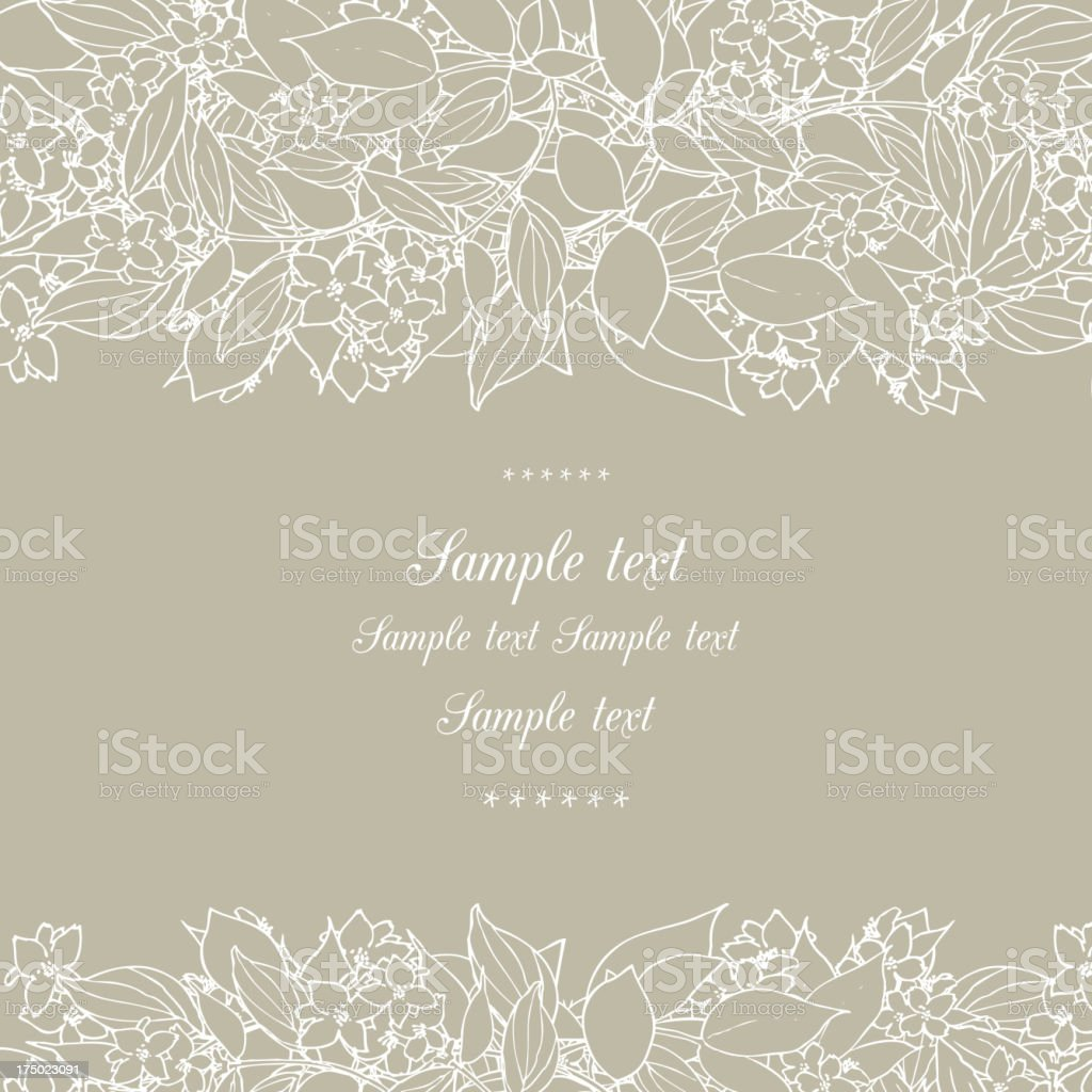 Floral decor vector art illustration