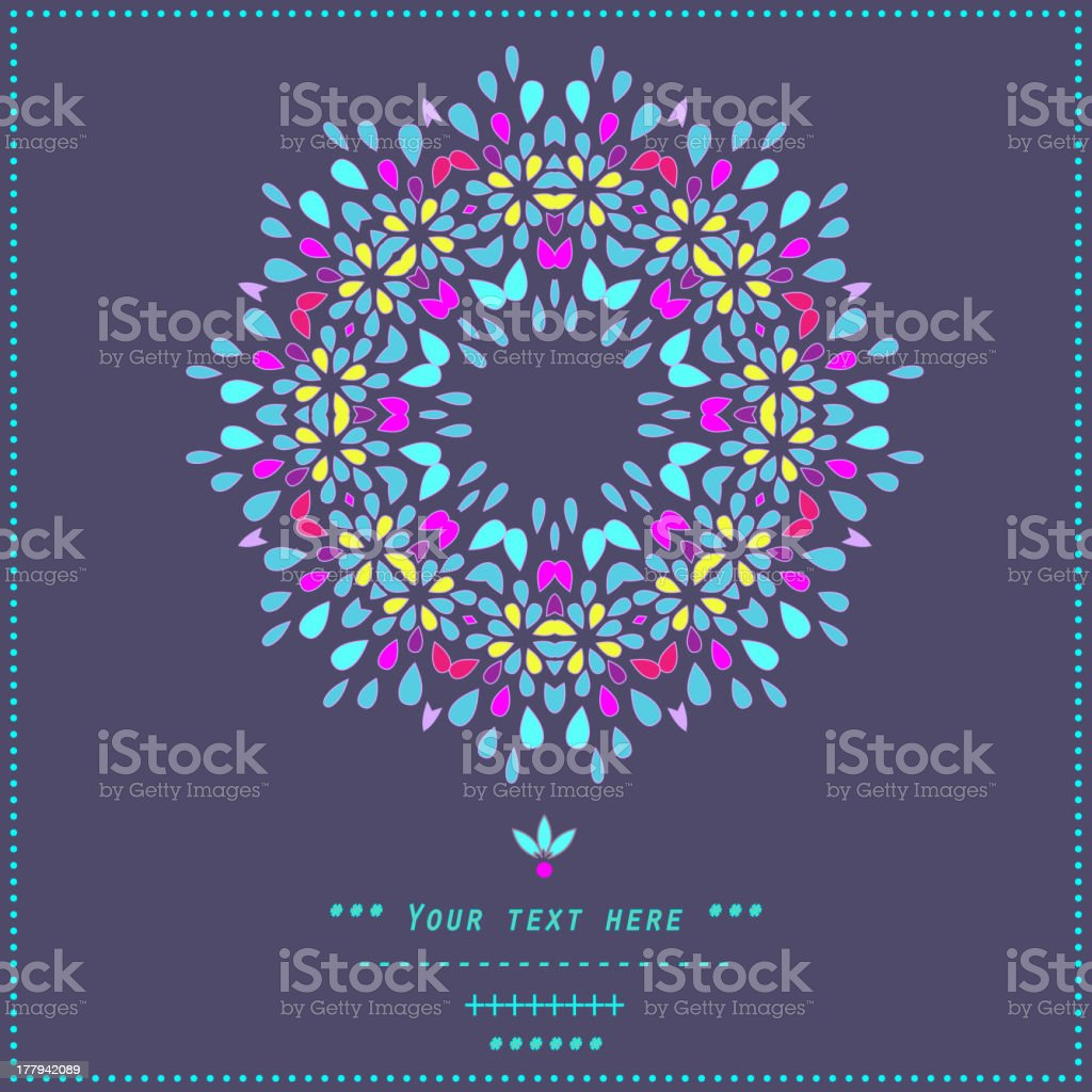 Floral decor royalty-free stock vector art