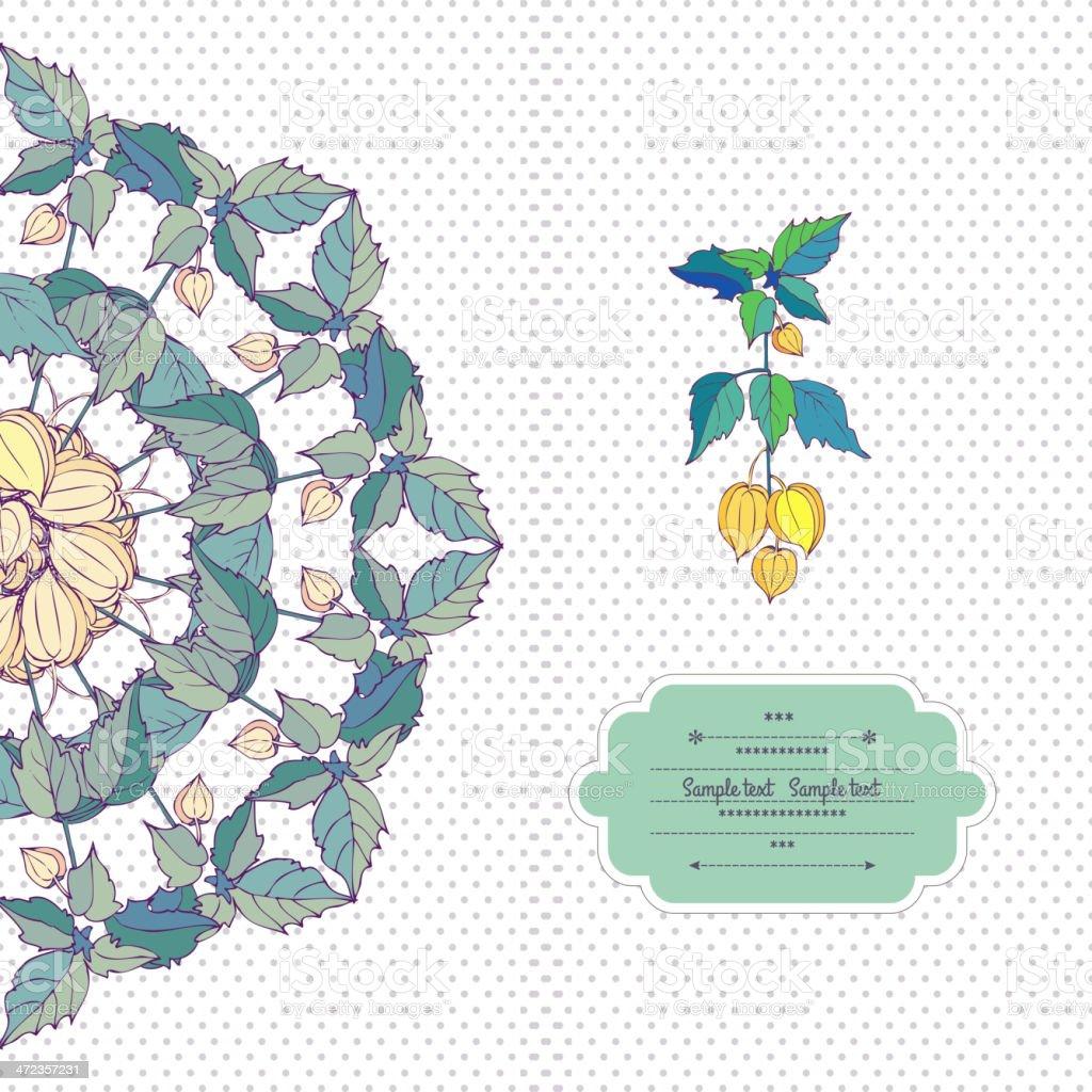 DECORACIÓN ESTILO flores - ilustración de arte vectorial