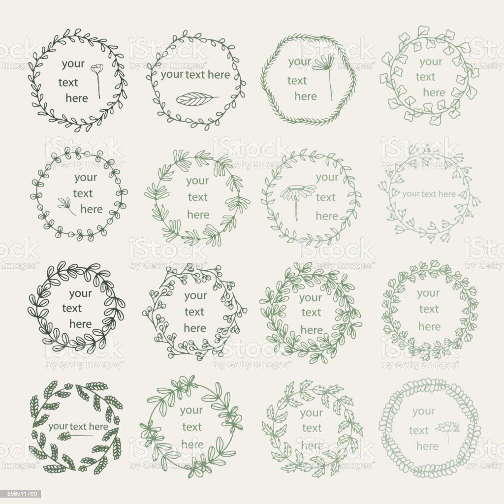 Floral decoration pattern vector art illustration