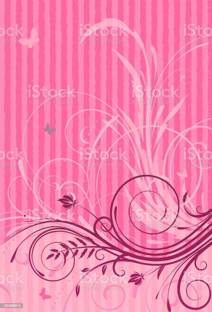 Floral Decorative background royalty-free floral decorative background stock vector art & more images of abstract