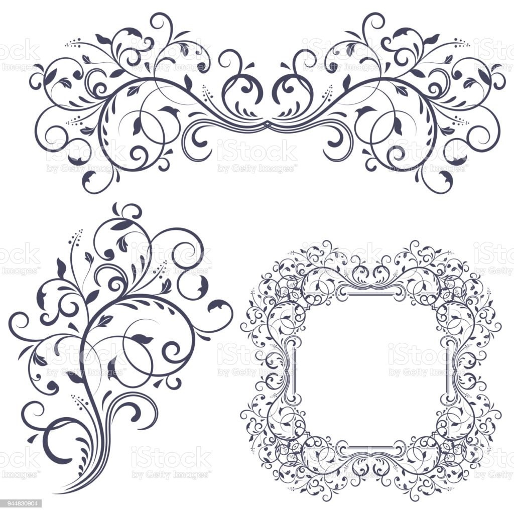 Floral decorative frame and ornaments wedding invitation decoration floral decorative frame and ornaments wedding invitation decoration royalty free floral decorative frame and stopboris Choice Image