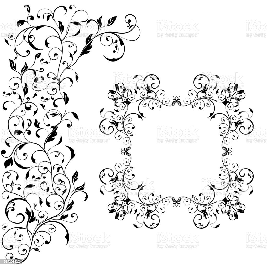 Floral decorative frame with background ornament wedding invitation floral decorative frame with background ornament wedding invitation decoration royalty free floral decorative frame junglespirit Image collections