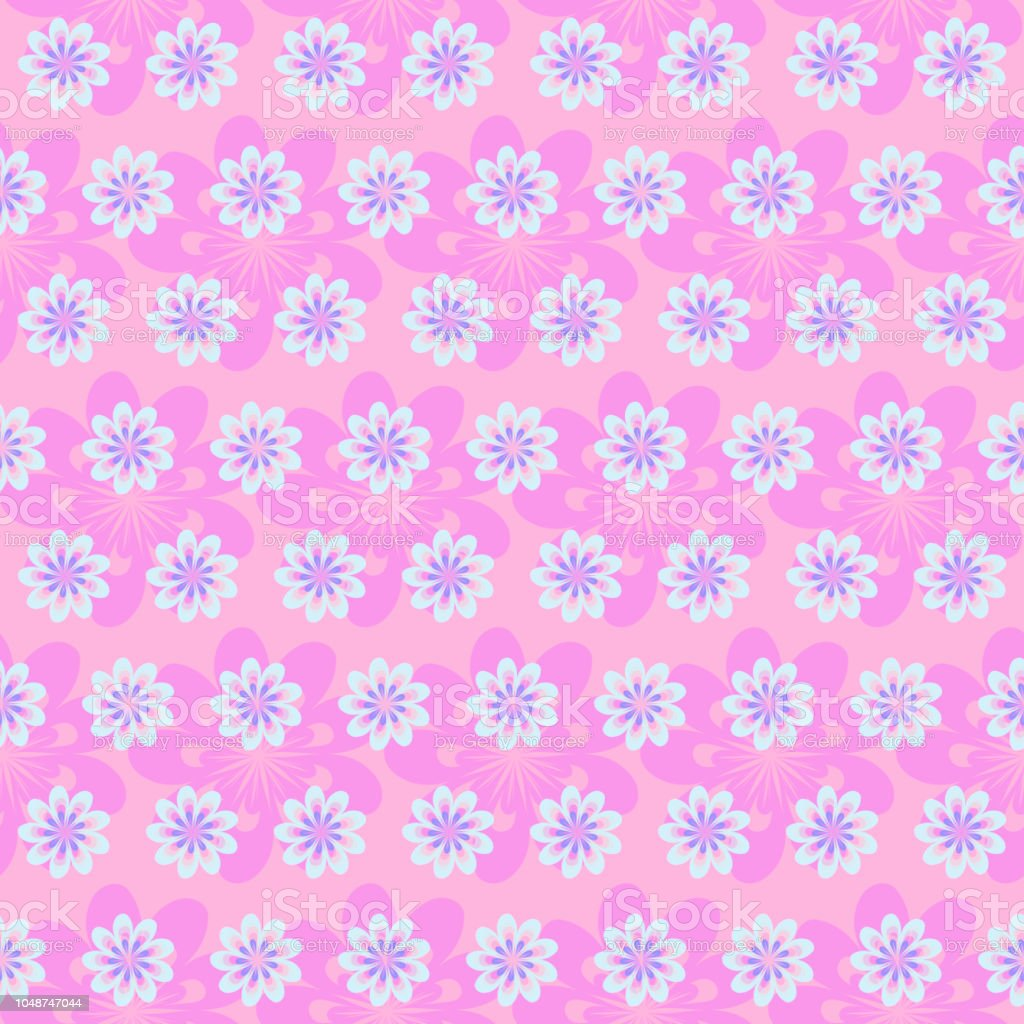 Floral Delicate Background Pattern For Design Fabric Baby Linen