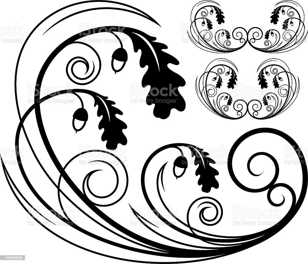 Floral design element royalty-free floral design element stock vector art & more images of acorn