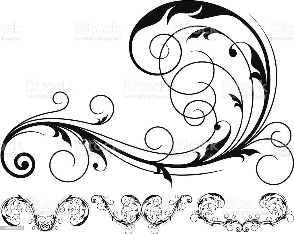 Floral design element royalty-free floral design element stock vector art & more images of antique