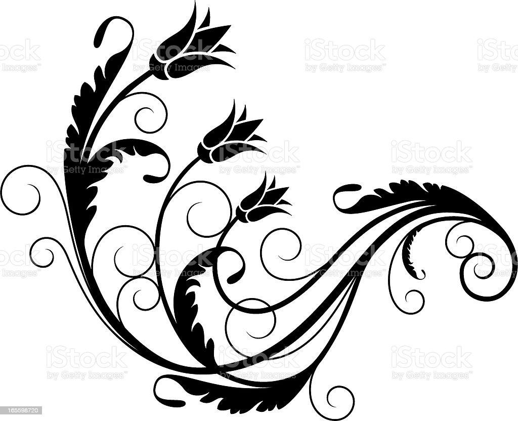 Elemento de diseño Floral ilustración de elemento de diseño floral y más banco de imágenes de acurrucado libre de derechos