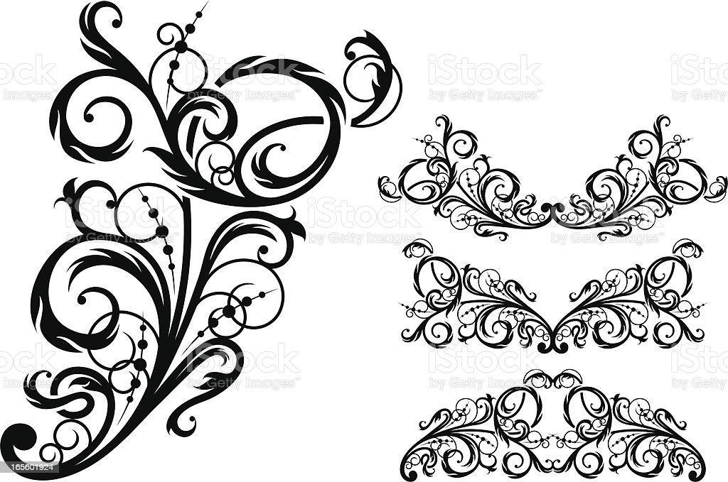 Floral design element vector art illustration