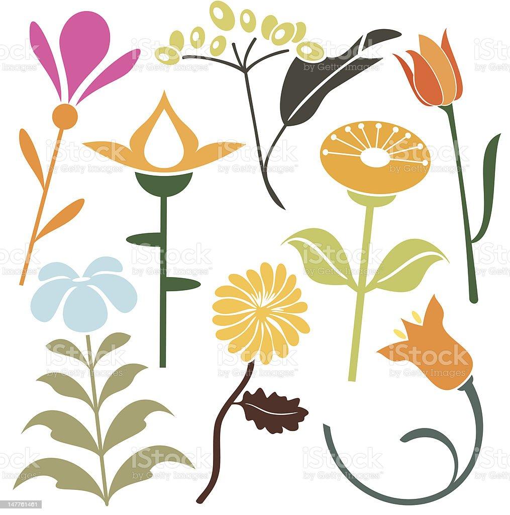 Floral Design Elements (Vector) royalty-free stock vector art