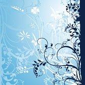 Illustration drawing of floral design elements