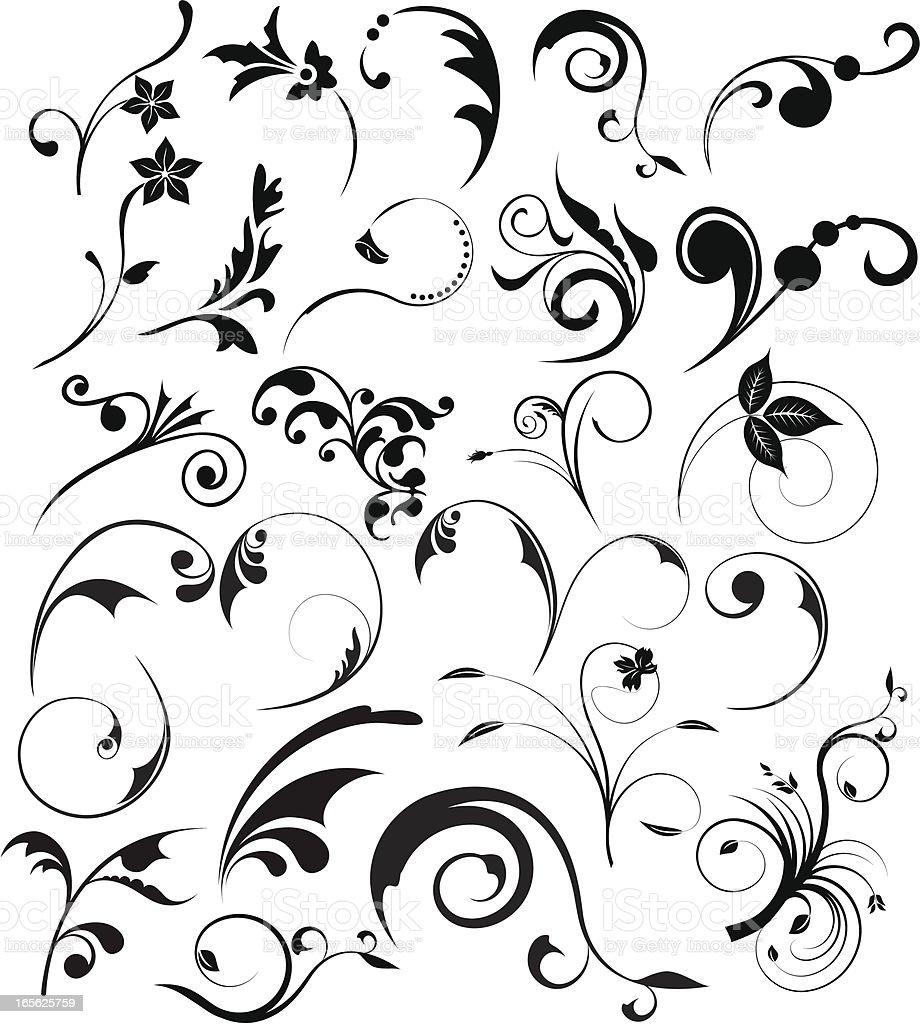 Floral design-Elemente – Vektorgrafik