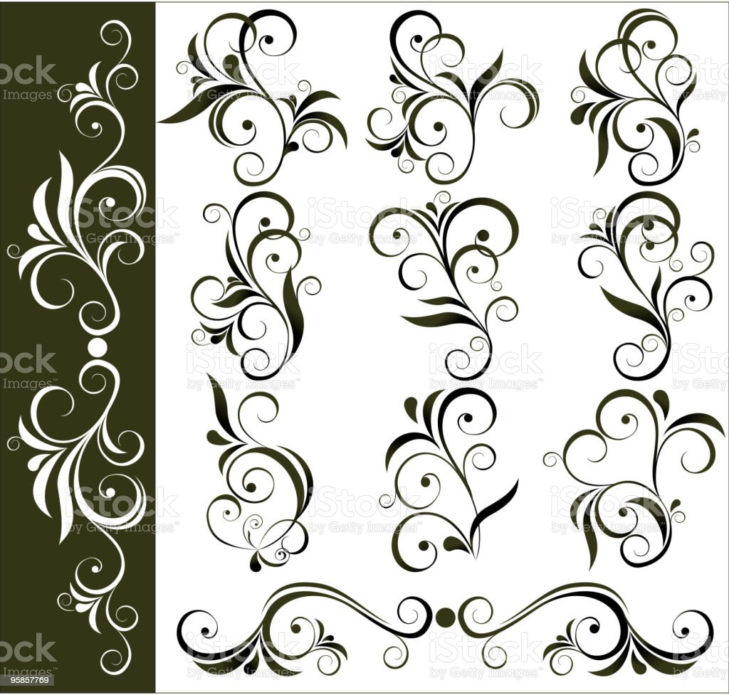 floral design elements royalty-free stock vector art